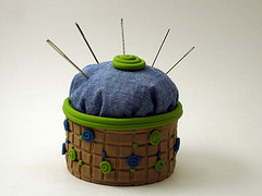 Green and Blue Pincushion