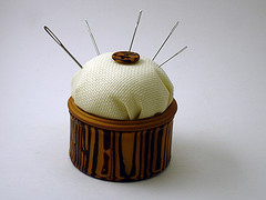 Faux Wood Pincushion
