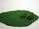 Spearmint Leaves On Clay