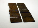 Rusted Polymer Clay Tiles (Clay Brand Test)