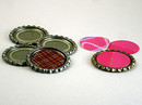 Recycled Card Bottlecap Ornaments / Jewelry