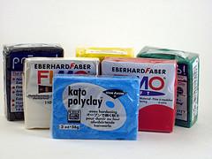Blocks of Polymer Clay (Premo, Fimo and Kato)