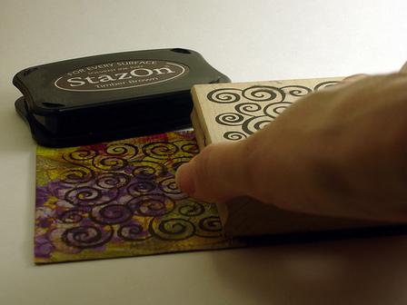 Stamping Postcard