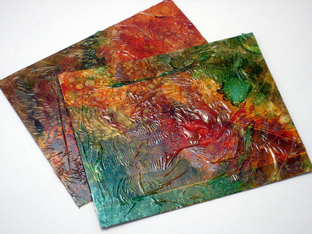 Alcohol Ink Postcards