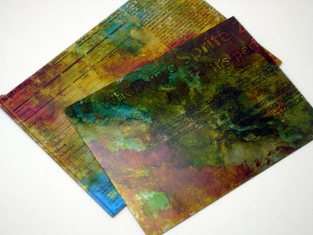 Matte Alcohol Ink Postcards