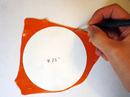 1. Cut orange circle
