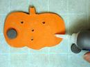 Gluing magnet to pumpkin