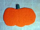 Textured pumpkin with stem
